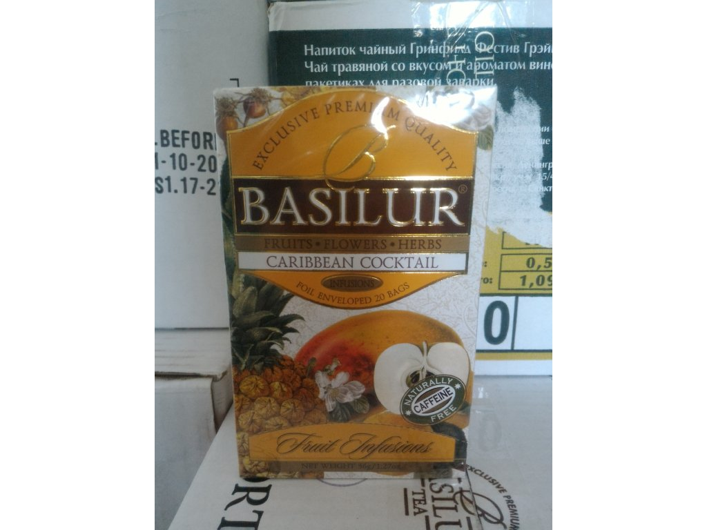BASILUR 11/2018 Fruit Caribbean Cocktail přebal 20x1,8g