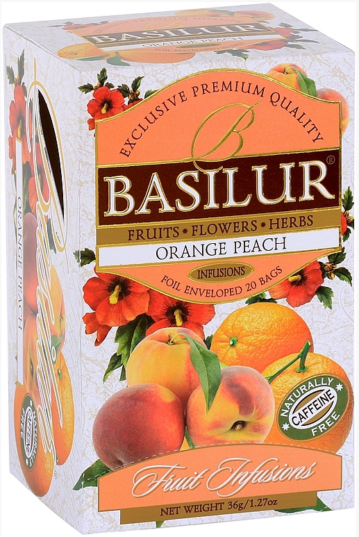 BASILUR Fruit Orange Peach přebal 20x1,8g