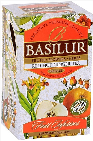 BASILUR Fruit Red Hot Ginger přebal 20x1,8g