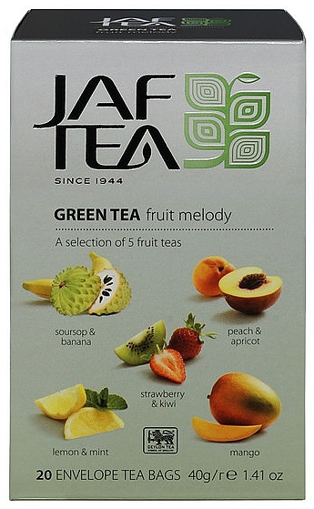 JAFTEA Green Fruit Melody přebal 5x4x2g