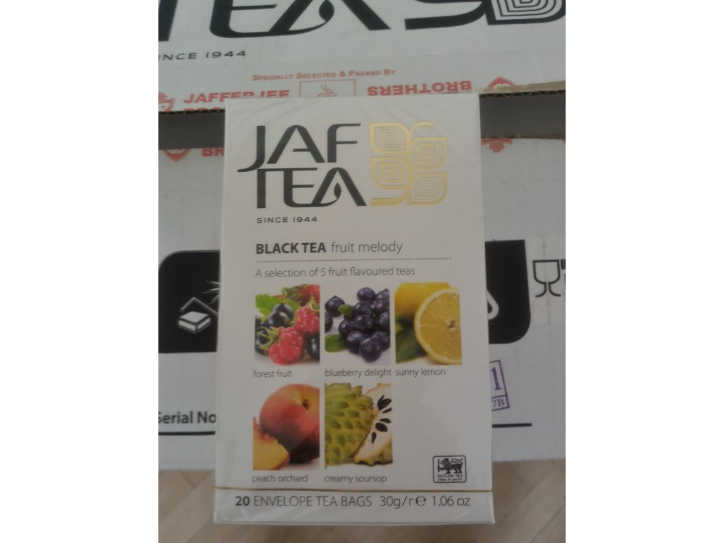 JAFTEA Black Fruit Melody přebal 4x5x1,5g