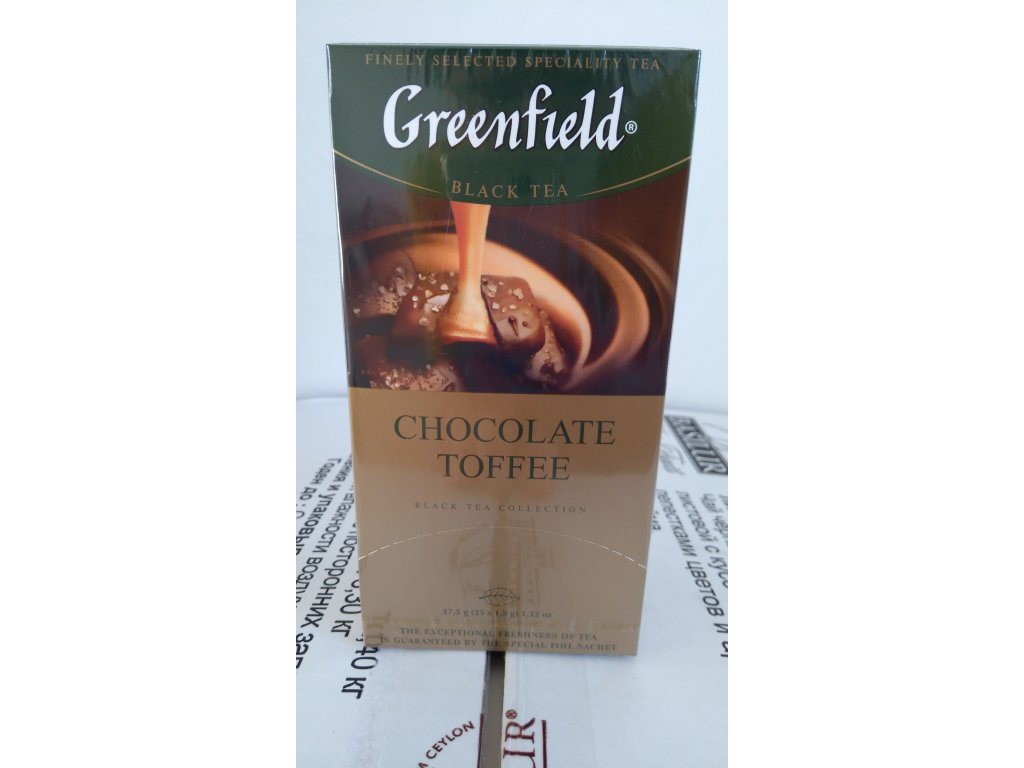 GF Black Chocolate Toffee přebal 25x1.5g