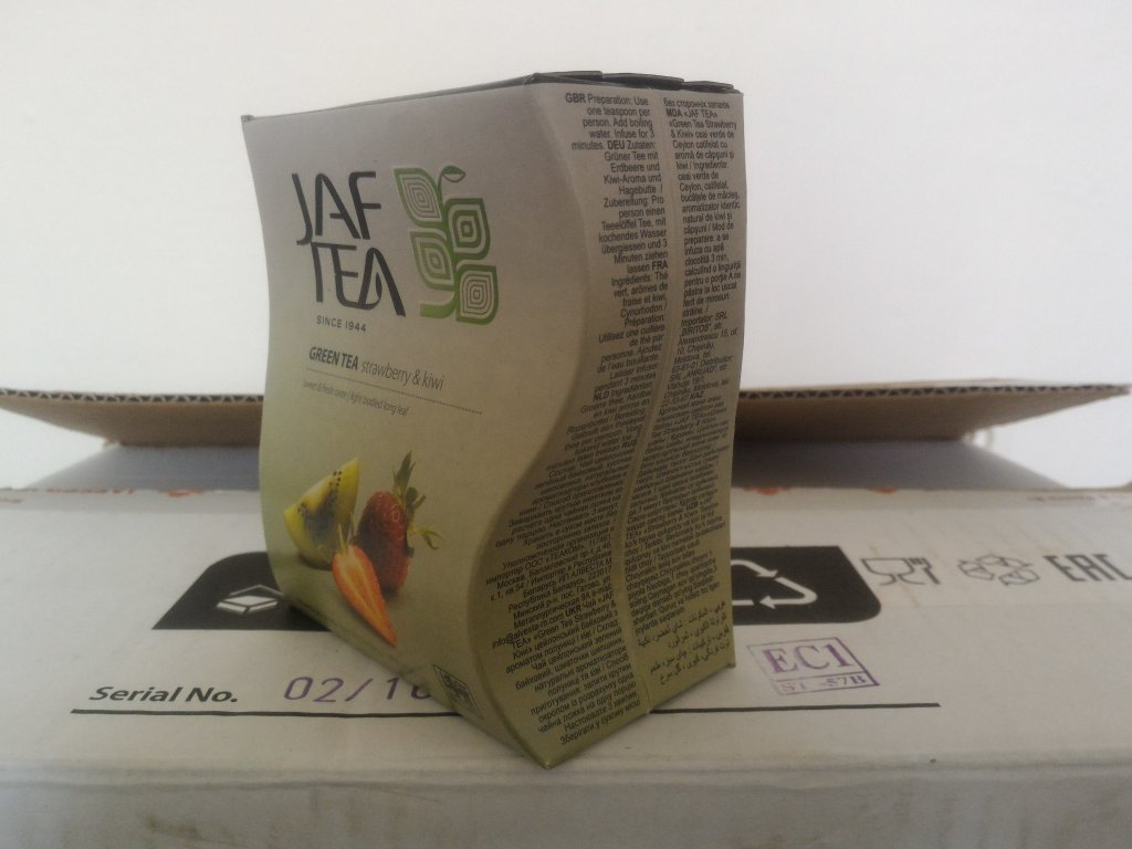 JAFTEA Green Strawberry & Kiwi papír 100g
