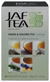 JAFTEA Green & Oolong Tea Mélange přebal 5x4x2g