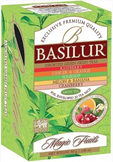 BASILUR Magic Fruits Green Assorted přebal 20x1,5g