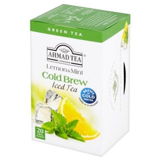 AHMAD TEA Ledový čaj Green Lemon and Mint 20x2g