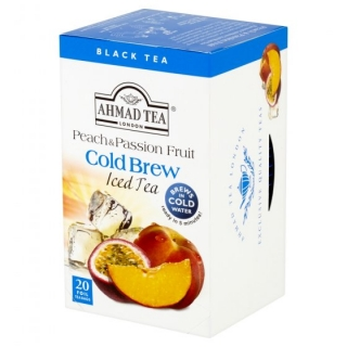 AHMAD TEA Ledový čaj Peach & Passion Fruit 20x2g