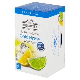 AHMAD TEA Ledový čaj Lemon & Lime 20x2g