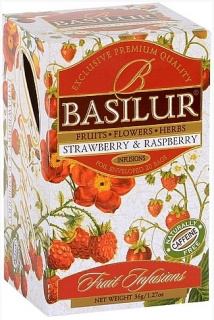 BASILUR Fruit Strawberry & Raspberry přebal 20x1,8g