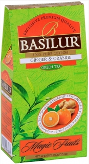 BASILUR Magic Green Ginger & Orange papír 100g