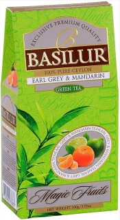 BASILUR Magic Green Earl Grey & Mandarin papír 100g