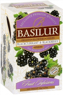 BASILUR Fruit Blackcurrant & Blackberry přebal 25x1,8g